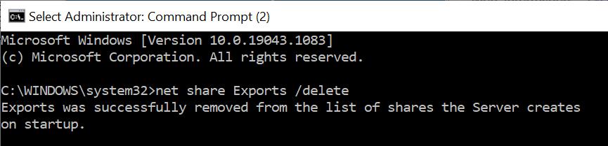 net share Exports /delete