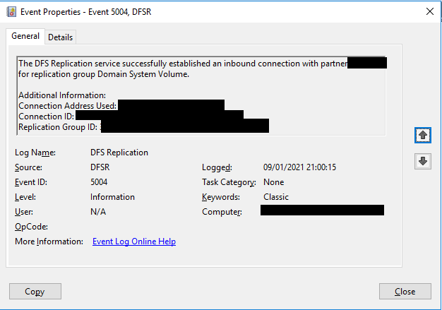 Event 5014 and 5004 every day on Server 2016 Domain Controller