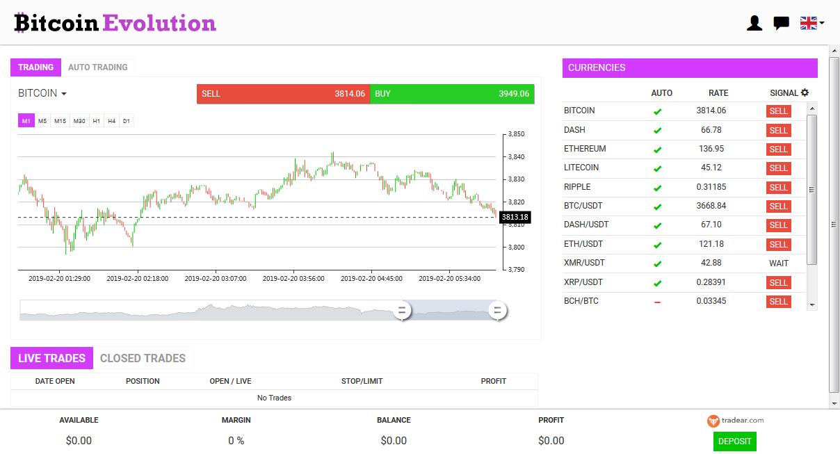 Bitcoin Evolution Screenshot