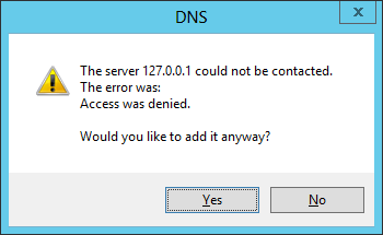 DNS Server access is denied