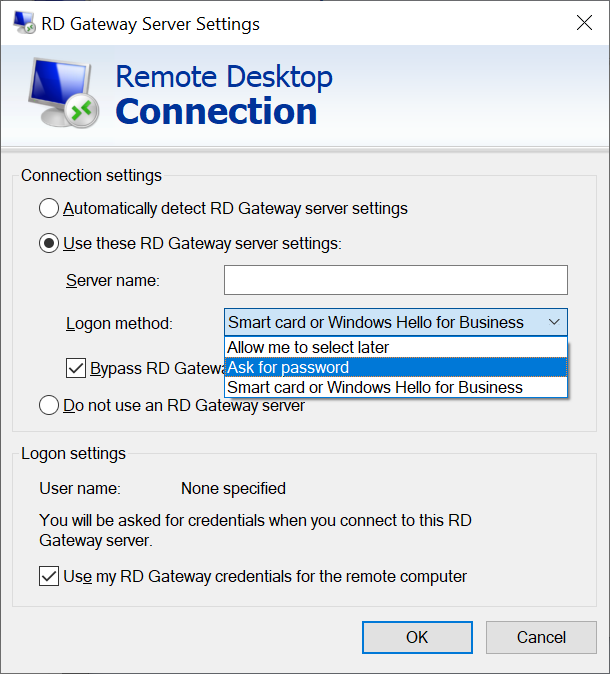 Remote Desktop Client (mstsc.exe)