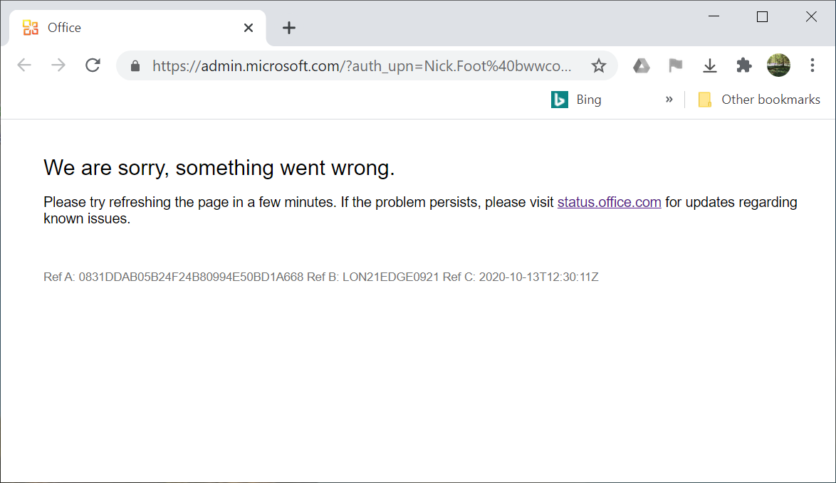 We are sorry, something went wrong. Please try refreshing the page in a few minutes.